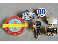 job lot of enamel badges