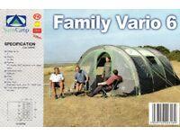 Sunncamp family vario 6 tent