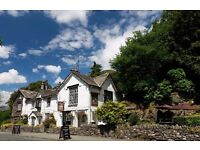 CHEF DE PARTIE FOR AMBITIOUS LAKE DISTRICT INN. LIVE IN AVAILABLE