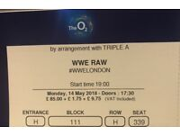 WWE Raw, O2 Arena, 14th May, TV side, Block 111.