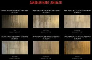 Canadian Made Laminate - LIQUIDATION SALE