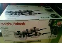Morphy Richards equip pan set **brand new**