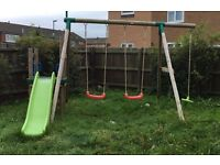 Little tykes swing and slide set playset
