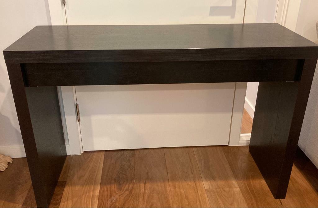 Ikea malm dressing table black brown