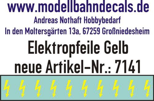 10 Gauge 1 Yellow Elektropfeile 0 5/32x0 1/16in - Decals Top 032-7141