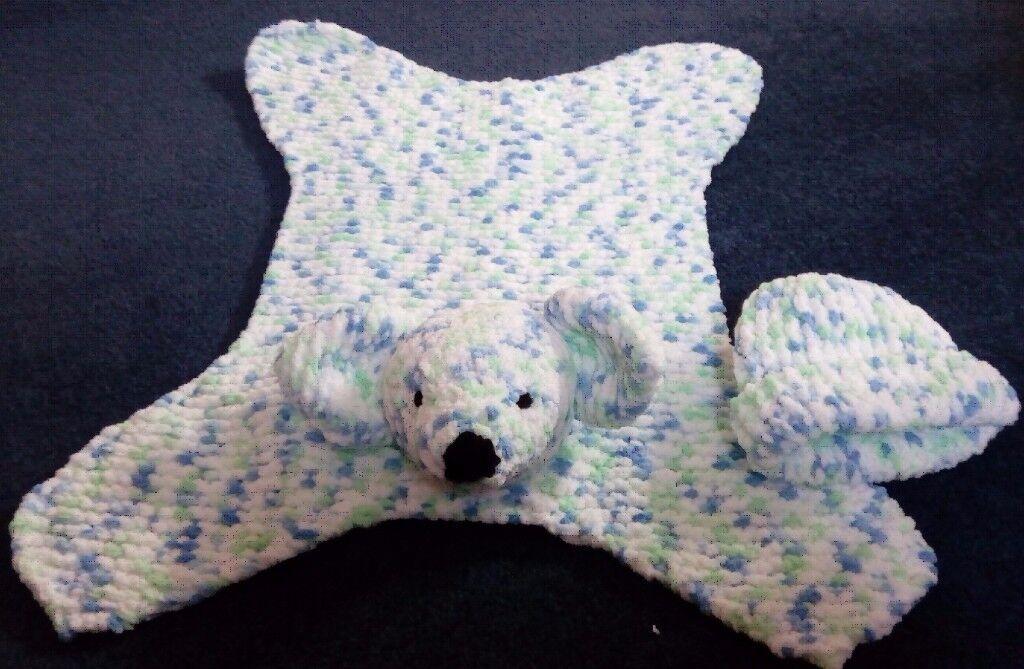 Handmade Bear Rug or Security Blanket