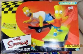 "Scalextric Set ""The Simpsons Skateboard Chase"""