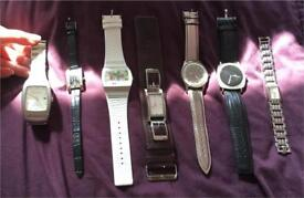 Ladies and one men's watch : ben Sherman, Henley's, oasis, Morgan, guess, quartz