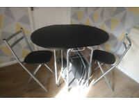 Stowaway Folding Dining Set - table & 4 chaird