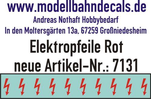 10 Gauge 1 Red Elektropfeile 0 5/32x0 1/16in - Decals Top 032-7131