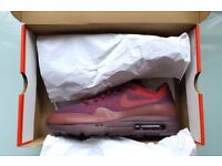 NIKE AIR MAX 1 ULTRA FLYKNIT DEEP BURGUNGY - UK SIZE 9 (44) BRAND NEW - BOXED