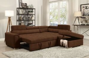 SECTIONAL SET WITHH STORAGEE AND BED BRANDD NEW