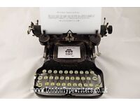 1920's Working Corona Typewriter - New Ribbon, Case - London Typewriters