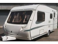 ABBEY ADVENTURA 4/5 BERTH 2006 07 L SHAPE TO FRONT LIGHT WEIGHT