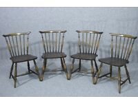 Chairs, Vintage, Set Of 4, Ercol Dining Chairs, - Matching Table Available
