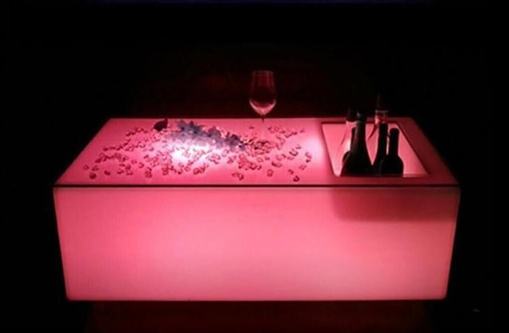 LED colour changing Table with ice compartment for chilled drinks | in  Chandlers Ford, Hampshire | Gumtree
