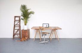 Desk space in lovely light creative shared studio