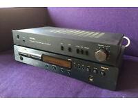 Marantz CD player and Rotel amp.