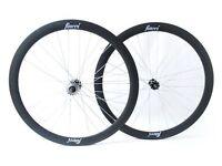 Fincci Single Speed Fixed Bike Bicycle Wheels 700c 45mm Pair Various Colours Black White Grey Blue