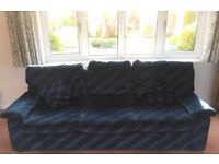 3 SEATER SETTEE, BLUE, COMFORTABLE