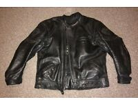 LOOKWELL black leather motorcycle bike jacket large size 62