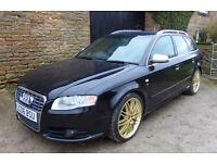 2006/06 Audi A4 model S4 Avant Quattro estate 4.2 V8 Tronic Auto Black 5dr FSH not s3 s5 s6 a5 a6 tt