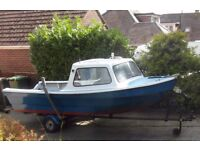 Dijon 14Ft Fishing Boat and Trailer both recently painted .Excellent Condition. Fishfinder included