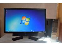 "DELL OPTIPLEX USFF 9010 SMALL PC COMPUTER & 24"" DELL WIDESCREEN LCD LED MONITOR I5 8GB RAM 120GB SSD"