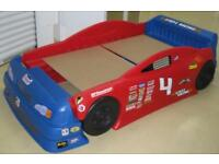 Toddler car bed converts to a single