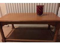 Oak Coffee table - Solid wood - Side table Living room dining room