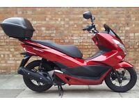 Honda PCX 125cc - 2014 '14' Plate - 5000 Miles - Metallic Red - GIVI Top Box
