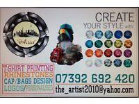 Tshirt printing--caps--Bags!!! -£15