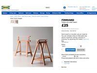 Ikea Wood Trestles