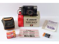 Canon AF35M2 35mm f2.8 lens - superb condition. Boxed with accessories. (Similar to Olympus MJU ii).