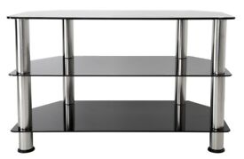 TV STAND - Black Glass and Chrome Legs (upto 40 inch TV)
