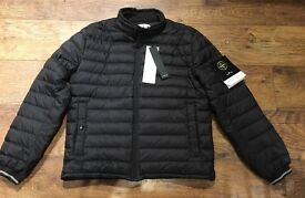 Stone Island Micro Rip Stop 7 Packable Down Jacket - Black - Large.