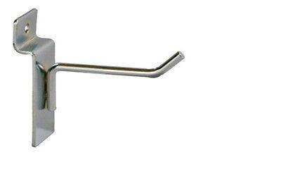 Light Duty 2l X 316d Wire Slatwall Hook Display Fixture Chrome Lot Of 100 New