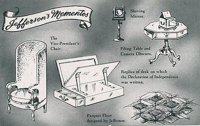 VA * Monticello  * Thomas Jefferson's Mementos  1950s  Charlottesville
