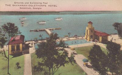 The Savannah-Oglethorpe Hotel, Swimming Pool & Grounds, SAVANNAH, GA, PU-1930