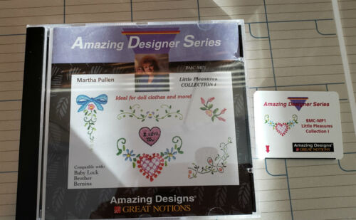 Brother/Babylock/Bernina  Embroidery  Card,  Little Pleasures Collection 1, Used