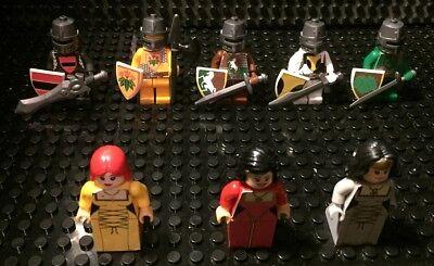 Custom Lego   Bricks   5 Knight Statues And 3 Ladies Lot  Series S6  New