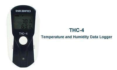 Thc-4 Lcd Display Usb Temperature Humidity Data Logger Recorder Sensor Reusable