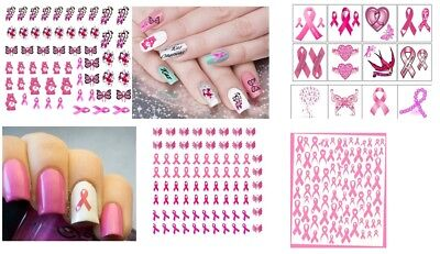 Breast Cancer Collection Nail Art -  Temporary Tattoos  - Nail Stickers  (Tattoo Breast)