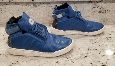 Rare Men's Used Adidas Y-3 Yohji Yamamoto Shoes Size 9.5 U.S., Blue Leather.