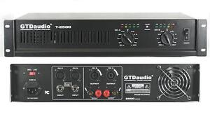 2 Channel 2500 Watts Professional Power Amplifier AMP Stereo GTD-Audio T-2500