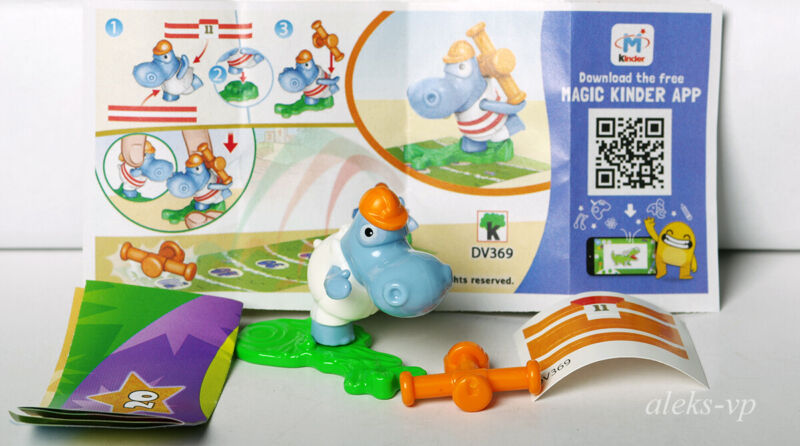 Complete Series Kinder Hippos Olympics DV365-DV372 New 8 papers