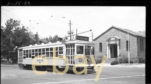 Sacramento PG&E Trolley #52 - B&W Negative