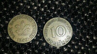 10 pfennig bank deutscher länder 1949 F