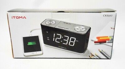 iTOMA Alarm Clock Radio, Digital FM Radio,USB Charge Port,Backup Battery(CKS507)