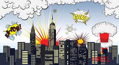 Super Hero vinyl photography Backdrop Background studio props 5X3FT HR01](Super Hero Background)